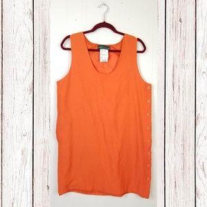Vintage Harve Benard Orange Linen Sheath Dress
